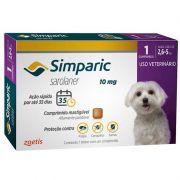 Antipulgas e Carrapatos para Cães Simparic de 2,6 a 5kg - Zoetis
