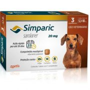 Antipulgas e Carrapatos para Cães Simparic de 5,1 a 10kg (3 tabletes) - Zoetis