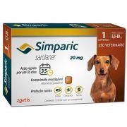 Antipulgas e Carrapatos para Cães Simparic de 5,1 a 10kg - Zoetis