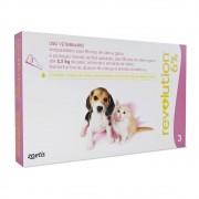 Antipulgas Revolution para Cães e Gatos até 2,5kg (3 Tubos) - Zoetis