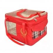Bolsa de Transporte Aéreo para Cães e Gatos (Especificação da Companhia Azul) Vermelha - São Pet