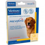 Coleira Anti Carrapatos E Sarna Preventic - Virbac (Validade 02/2020)