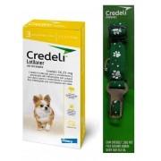 Compre um Antipulgas e Carrapatos Credeli 56,25mg para Cães entre 1,3 e 2,5kg (3 comprimidos) e Ganhe um Cinto de Segurança - Elanco (Validade 31/01/2021)