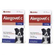 Kit 2 Unidades Anti Alérgico para Cães acima de 15kg Alergovet C 1,4mg (10 comprimidos) - Coveli