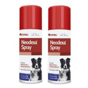 Kit 2 Unidades Antibiótico Neodexa Spray 74g (125ml) - Coveli