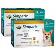 Kit 2 Unidades Antipulgas e Carrapatos para Cães Simparic de 10,1 a 20kg (3 tabletes) - Zoetis