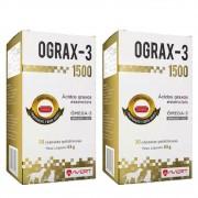 Kit 2 Unidades Suplemento para Cães e Gatos Ograx-3 1500 - Avert