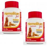 Kit 2 Unidades Suplemento Vitamínico Hemolitan Pet 30g (30 Comp.) - VETNIL