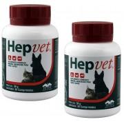 Kit 2 Unidades Suplemento Vitaminico Hepvet 30g (30 Comprimidos) - Vetnil