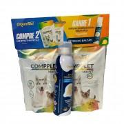 Kit 2 Unidades Suplemento Vitamínico para Cães e Gatos Compplet Mix Pet A-Z 120g - Organnact + Brinde Espuma Higienizadora Antisséptica e Hidratante 150ml