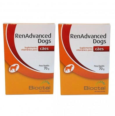 Kit 2 Unidades Renadvanced Dogs 70g - Bioctal