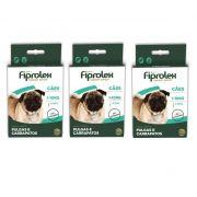 Kit 3 Unidades Antipulgas e Carrapatos Fiprolex Drop Spot para Cães de 1 a 10kg - Ceva