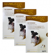 Kit 3 Unidades Antipulgas Revolution para Cães de 5,1kg a 10kg (3 Tubos) - Zoetis
