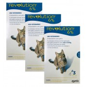 Kit 3 Unidades Antipulgas Revolution para Gatos de 2,6kg a 7,5 kg (3 Tubos) - Zoetis