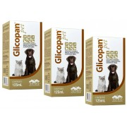 Kit 3 Unidades Glicopan Pet 125ml - Vetnil
