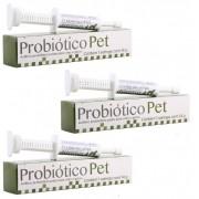 Kit 3 Unidades Suplemento para Cães e Gatos Probiótico Pet 14g - Avert
