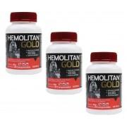 Kit 3 Unidades Suplemento Vitamínico Hemolitan Gold 30g (30 Comp.) - Vetnil