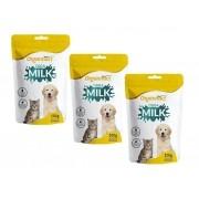 Kit 3 Unidades Suplemento Vitamínico para Cães e Gatos Filhotes Orga Milk 100g - Organnact