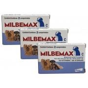Kit 3 Unidades Vermifugo Milbemax Para Caes Ate 5kg - Elanco