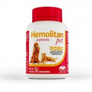 Suplemento Vitamínico Hemolitan Pet 30g (30 Comp.) - VETNIL
