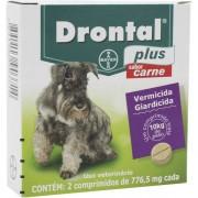 Vermifugo para Cães Drontal Plus Sabor Carne 10kg com 2 comprimidos - Bayer