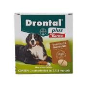 Vermifugo para Cães Drontal Plus Sabor Carne 35kg com 2 comprimidos - Bayer