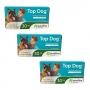 Kit 3 Unidades Vermifugo para Cães Top Dog 30kg (2 comprimidos) - Ourofino