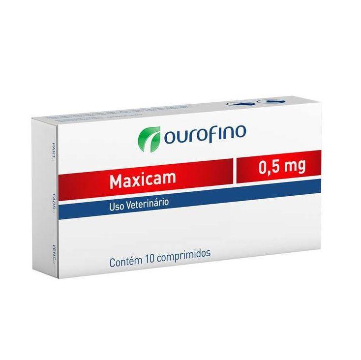 Anti Inflamatório Maxicam 0,5mg (1 Cartela 10 comprimidos) - Ourofino