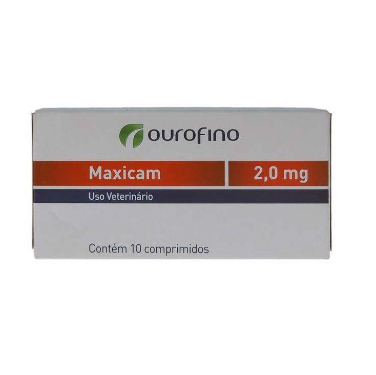 Anti Inflamatório Maxicam 2,0mg (10 comprimidos) - Ourofino (Validade Maio/2021)