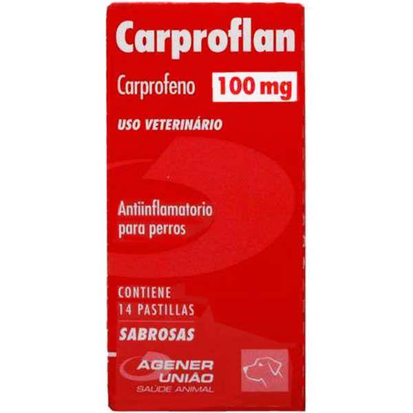Anti Inflamatório para Cães Carproflan 100mg (14 comprimidos) - Agener União Val. Nov2021