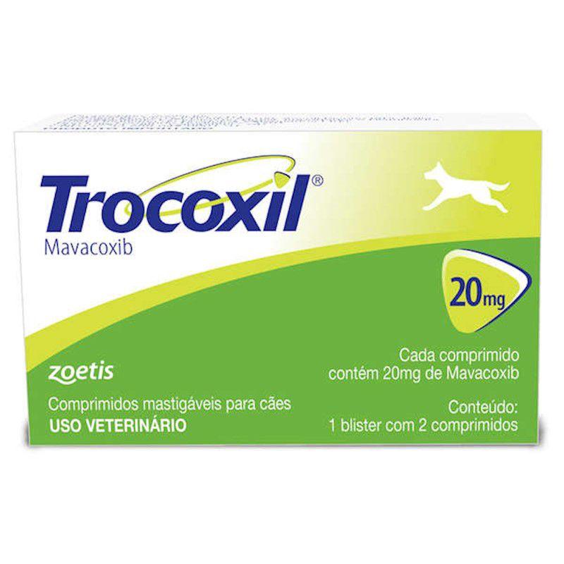 Anti-inflamatório Zoetis Trocoxil de 2 Comprimidos (20 mg) - Zoetis