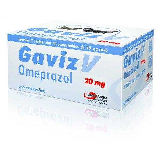 Antiácido Estomacal para Cães e Gatos Caixa Gaviz V 20mg (50 comprimidos) - Agener União