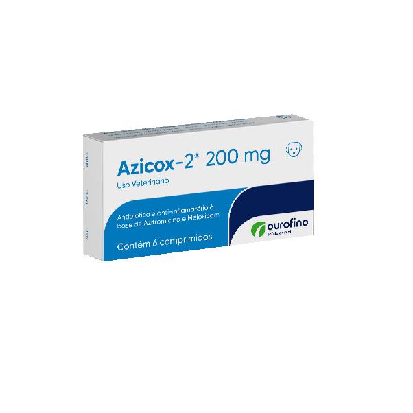 Antibiótico e Anti Inflamatório para Cães Azicox-2 200mg (6 comprimidos) - Ourofino