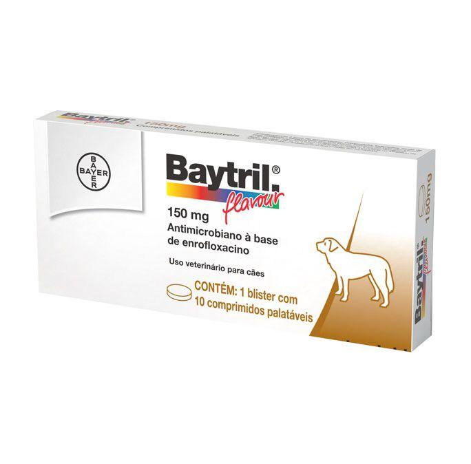 Antibiótico para Cães e Gatos Baytril Flavour 150mg (10 comprimidos) - Bayer