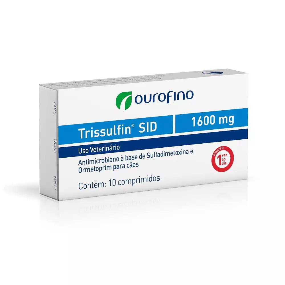 Antibiótico para Cães e Gatos Trissulfin SID 1600mg (10 comprimidos) - Ourofino