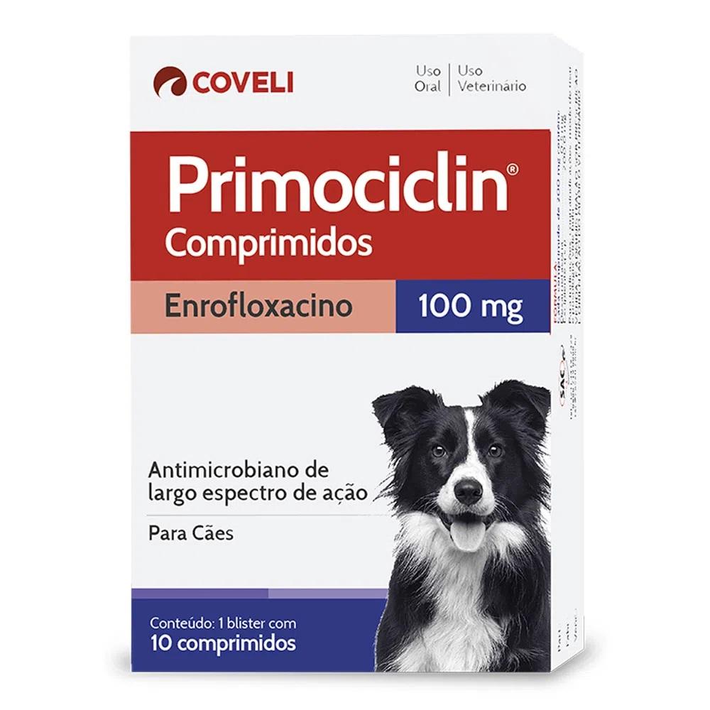 Antimicrobiano de Largo Espectro para Cães Primociclin 100mg (10 Comprimidos) - Coveli