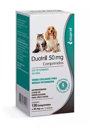 Antimicrobiano para Cães e Gatos DuoTrill 50mg - Duprat