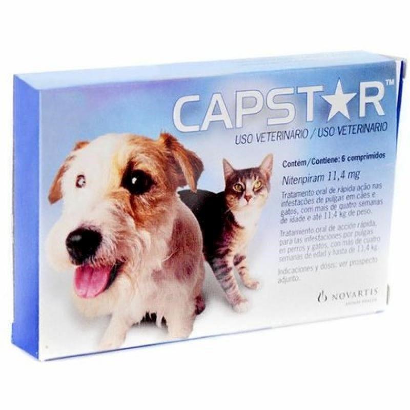 Antipulgas Capstar para Cães e Gatos até 11kg (6 comprimidos) - Elanco