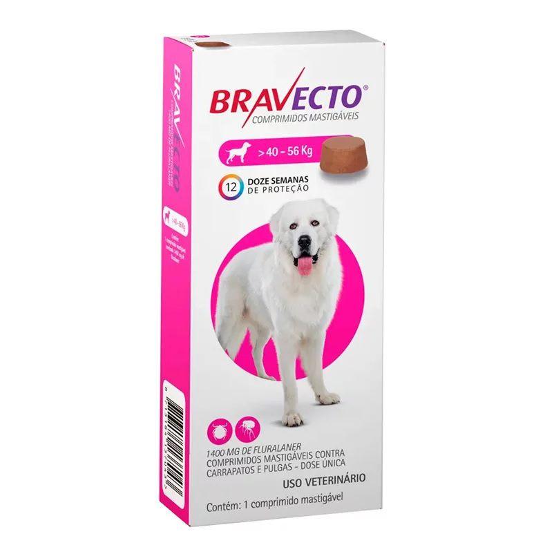 Antipulgas e Carrapatos Bravecto Para Caes De 40kg A 56kg (1400mg) - MSD Saúde Animal