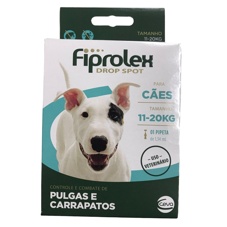 Antipulgas e Carrapatos Fiprolex Drop Spot para Cães de 11 a 20kg - Ceva