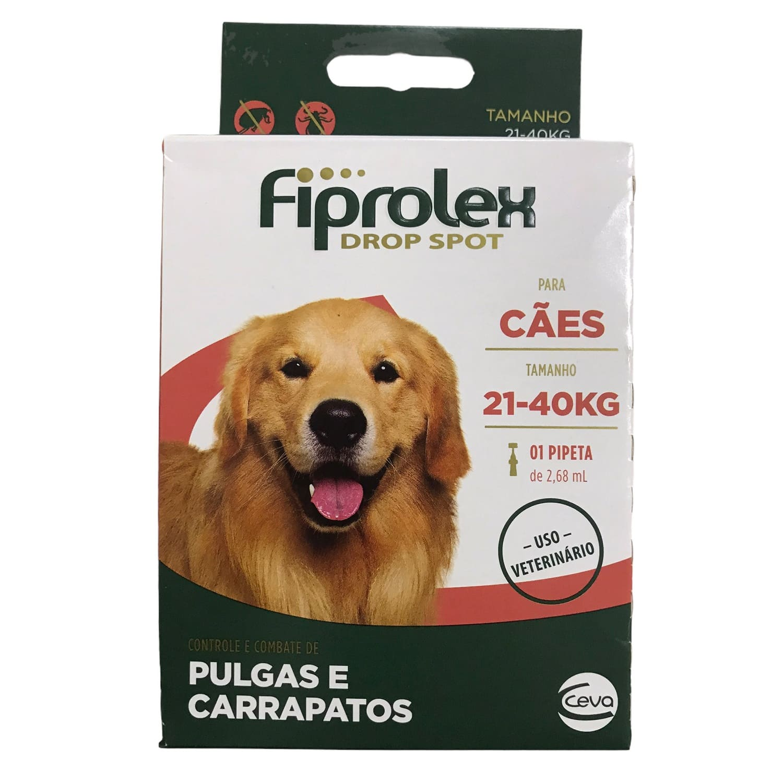 Antipulgas e Carrapatos Fiprolex Drop Spot para Cães de 21 a 40kg - Ceva