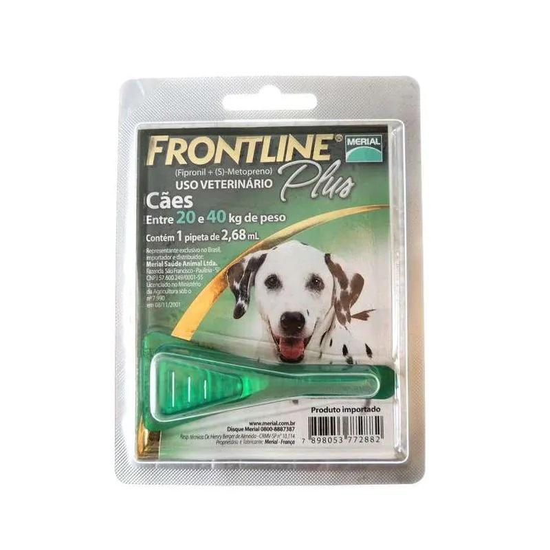 Antipulgas e Carrapatos Frontline Plus para Cães de 20 a 40kg - Boehringer Ingelheim (Validade Junho/2021)