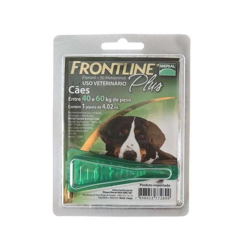 Antipulgas e Carrapatos Frontline Plus para Cães de 40 a 60kg - Boehringer Ingelheim (Validade Maio/2021)