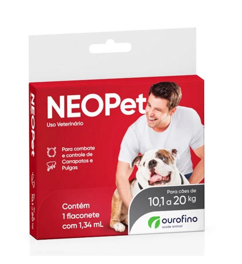 Antipulgas e Carrapatos Neopet 1,34ml Cães 10,1 a 20Kg - Ourofino