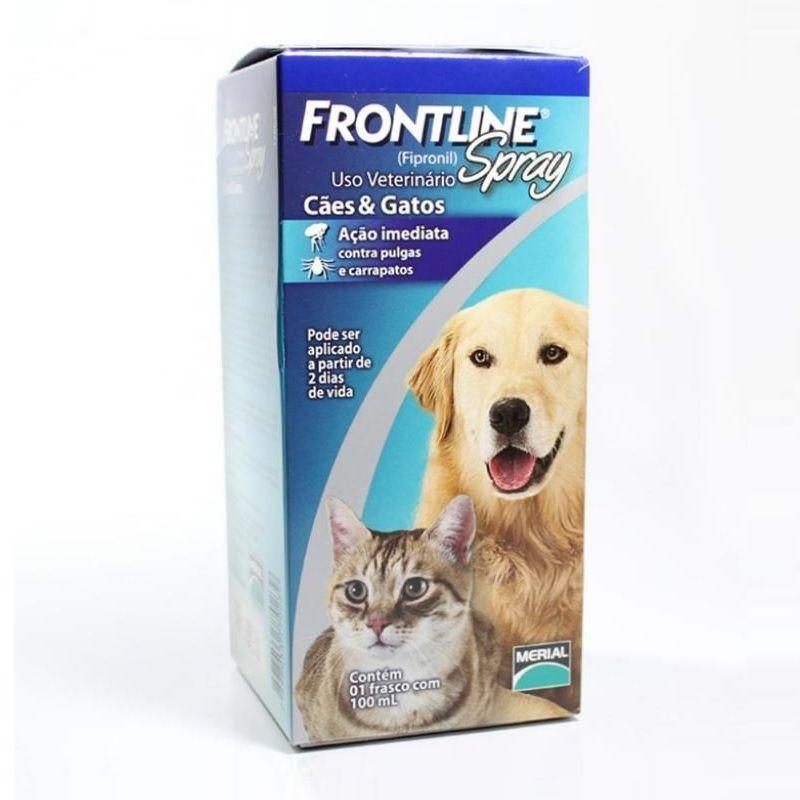 Antipulgas e Carrapatos para Cães e Gatos Frontline Spray 100ml - Boehringer Ingelheim