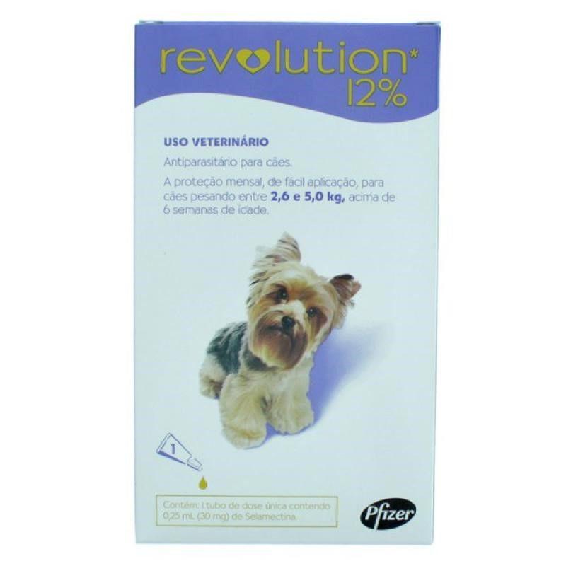Antipulgas Revolution Para Caes De 2,6kg A 5kg - Zoetis