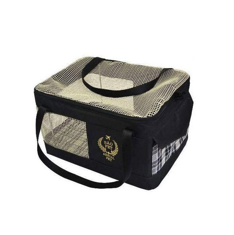 Bolsa de Transporte Aéreo para Cães e Gatos (Especificação da Companhia Azul) Preta - São Pet