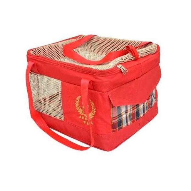 Bolsa de Transporte Aéreo para Cães e Gatos (Especificação da Companhia Latam) Vermelha - São Pet