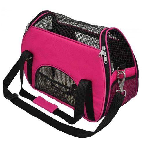 Bolsa de Transporte em Nylon para Cães e Gatos Atenas nº 2 Rosa - São Pet