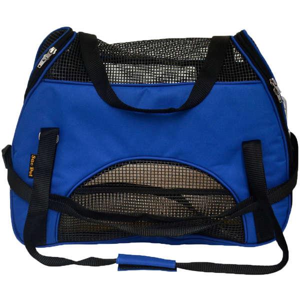 Bolsa de Transporte em Nylon para Cães e Gatos Atenas nº 2 Azul - São Pet